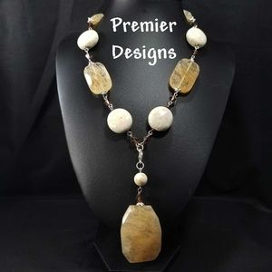 Premier Designs Stone Removable Pendant Necklace